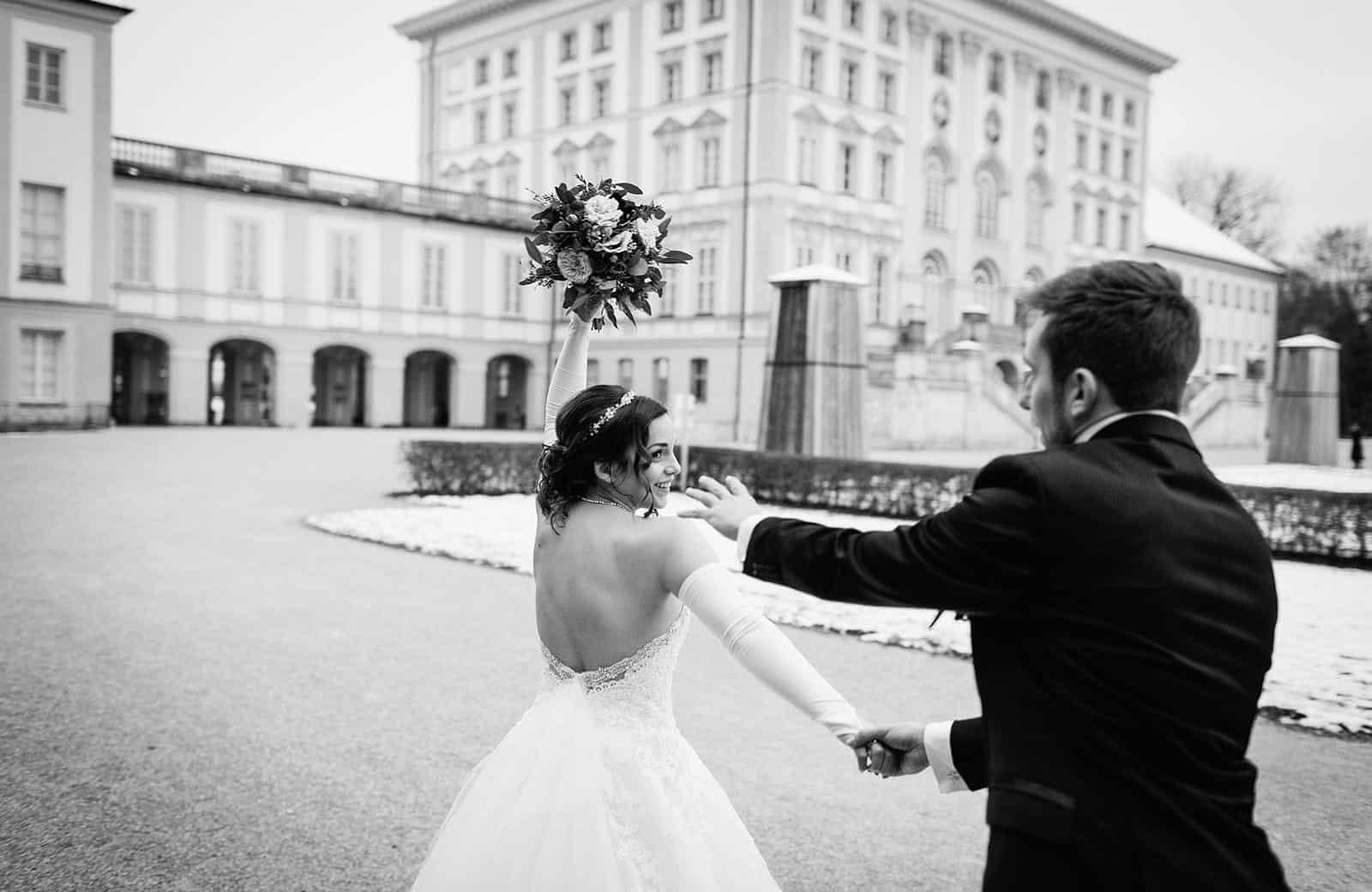 Hochzeitsfotograf München Nymphenburger Schloss Winterhochzeit