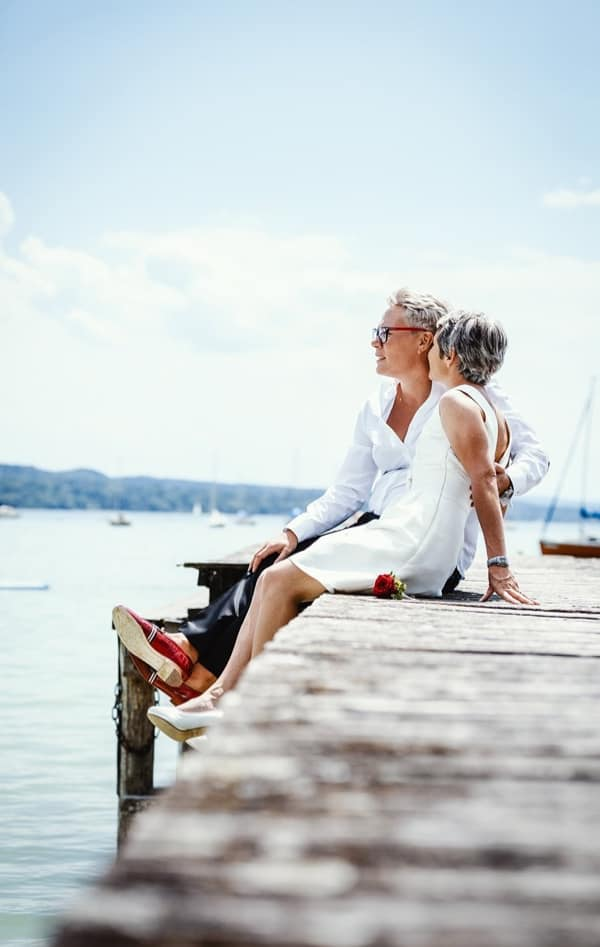 Hochzeit Starnberger See Steg