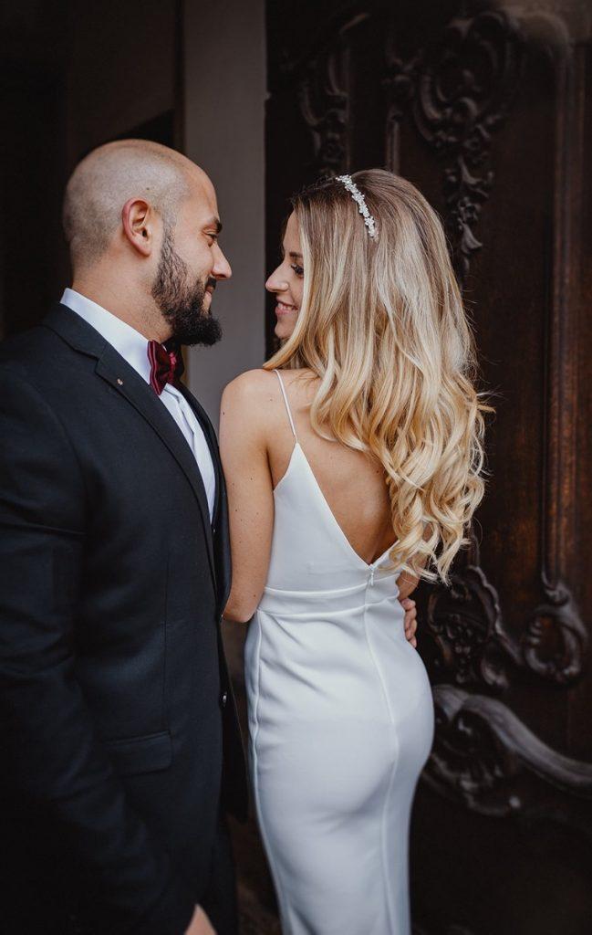 Hochzeitsfotograf Augsburg Schaezlerpalais Brautkleid